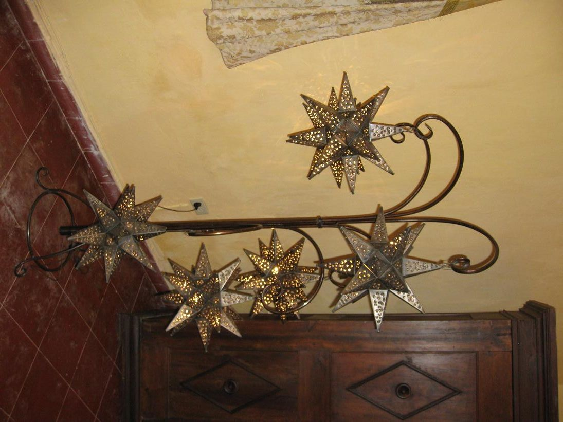 Mexican Tin Star Lamps House Lanterns Lamp