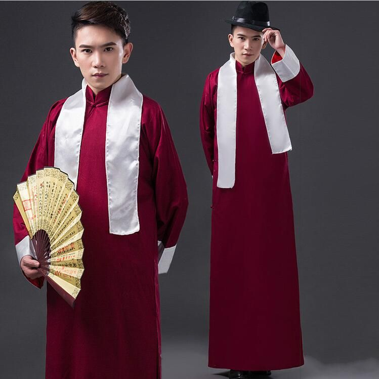 Men Ancient Costume Chinese Style Traditional Costumes Male Long Gown Old Shanghai Men S Clothes Vintage Robe Old Shanghai Chinese Style Long Gown