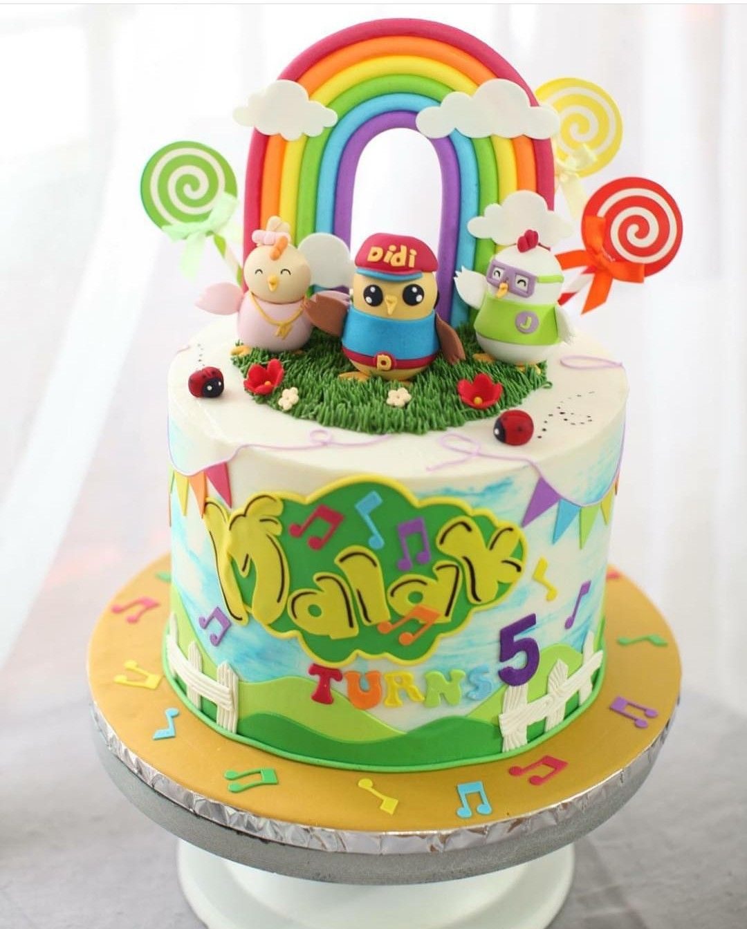 If Only I Could Make A Cake Like This Want More Ideas For Your Kid S Birthday Party Follow Our Board Didi And Friends Friends Theme Cake Kids Birthday Party