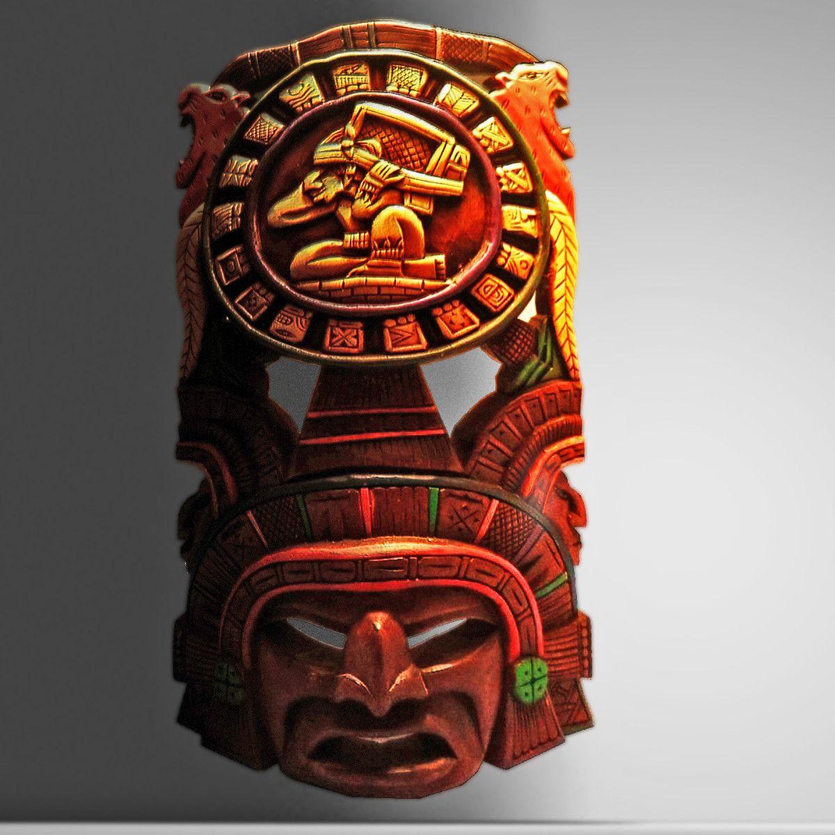 D Aztec Mask Model D Model Aztec Art Pinterest Aztec