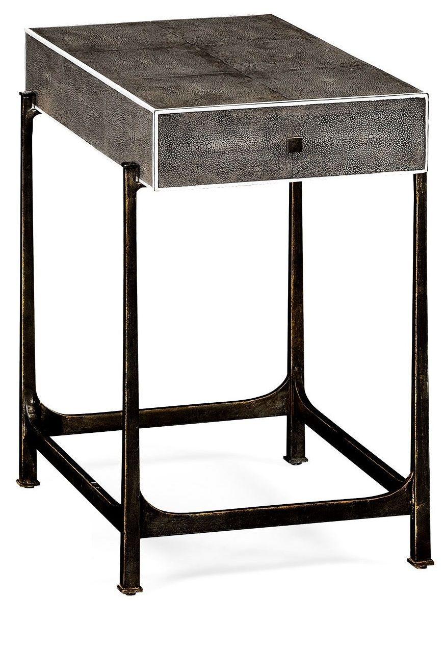 Luxury Designer Art Deco Black Shagreen Side Table, so elegant ...
