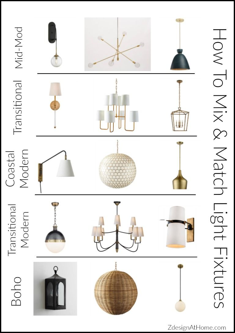 3 Simple Tips For Mixing Matching Light Fixtures Interior