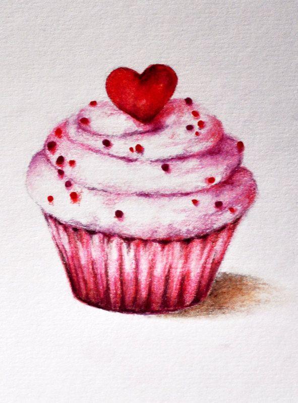 cupcake pintura textil dessin dessin de cupcake et. Black Bedroom Furniture Sets. Home Design Ideas