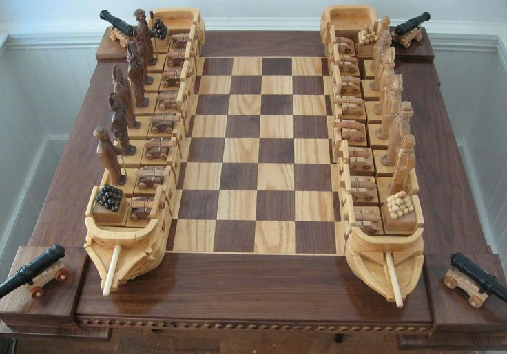 Chess Set War of 1812 Chess Set handmade on etsy custom themed chess sets and chess boards  Chess Set War of 1812 Chess Set handmade on etsy custom themed chess sets and...