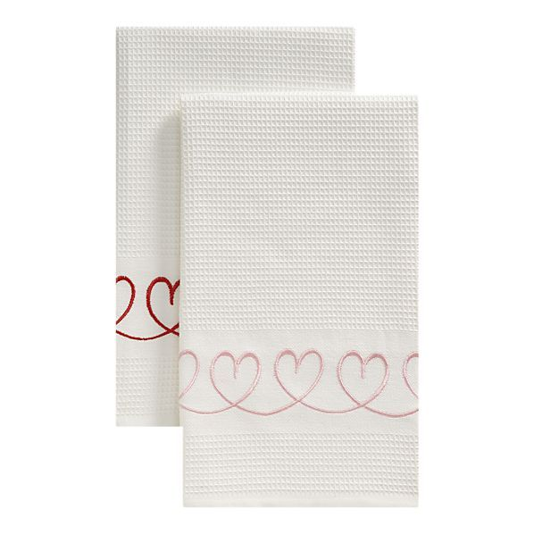 Sweet VDay Dish Towels