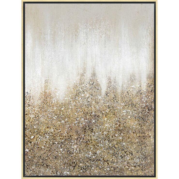Gold Glitter Abstract Canvas Wall Art 30 X 40 Glitter Wall Art Abstract Canvas Wall Art Diy Abstract Canvas Art