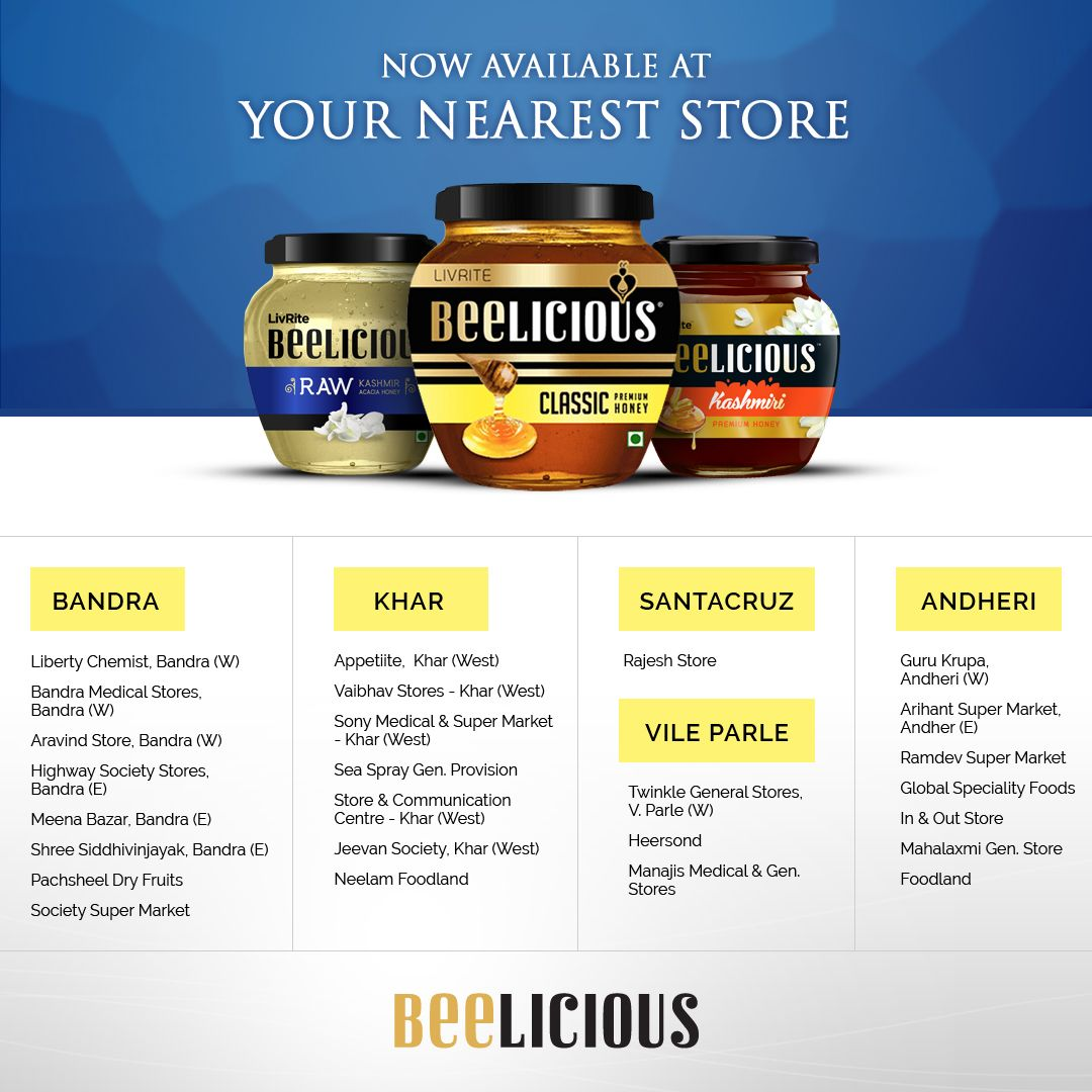 #Beelicious #Honey now available at a store near you ...