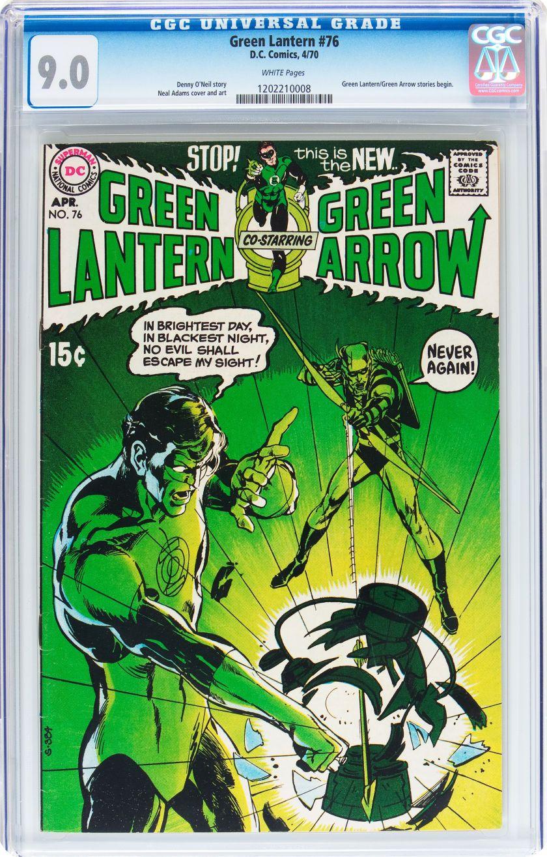 Bronze age superhero green lantern dc cgc