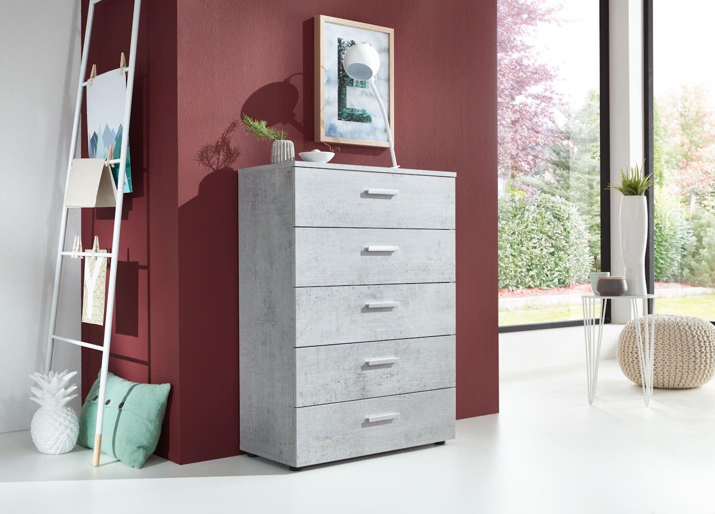 Exklusive Kommode In Betonoptik Musthave Furniture Kommode