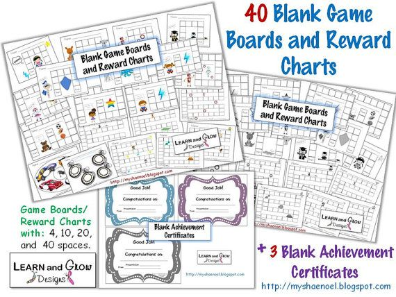 Printable Blank Game Boards Reward Charts and by LearnandGrow - blank reward chart