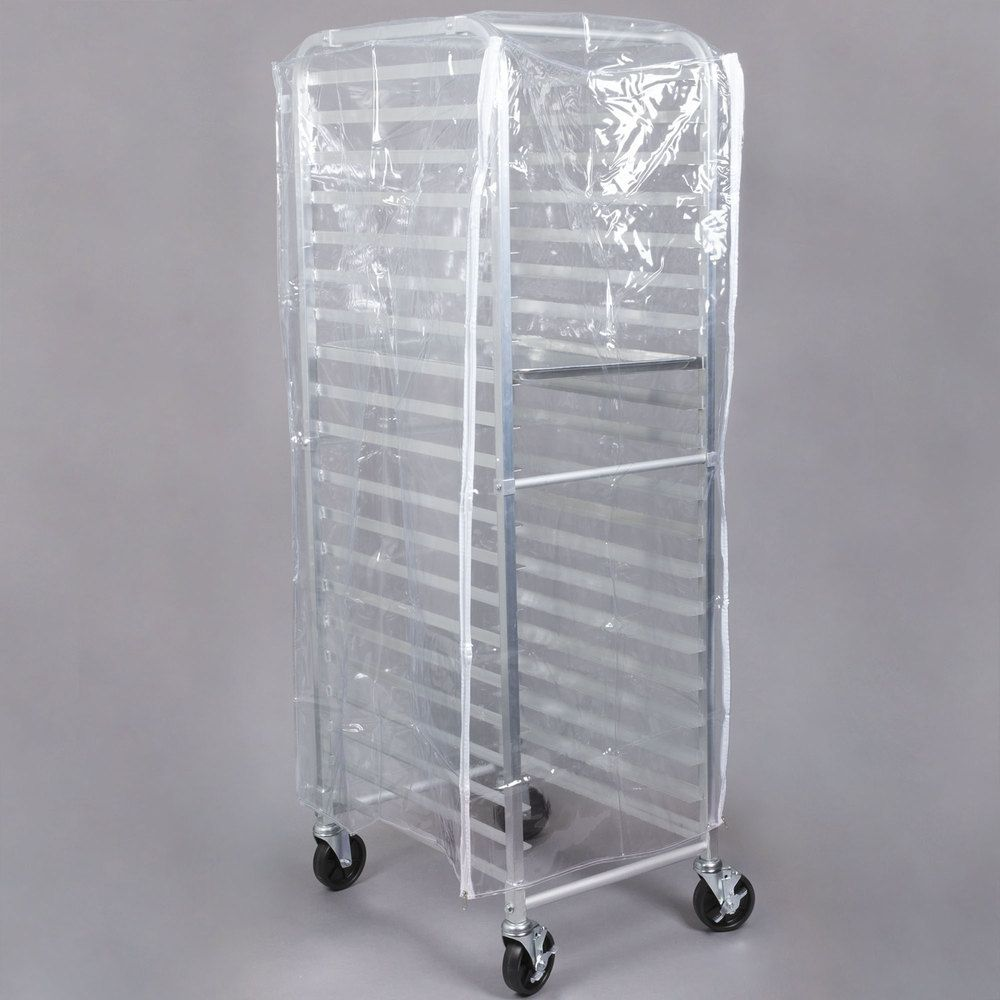 Bun Pan Rack Cover Clear Heavy Duty Plastic With 3 Zippers 8