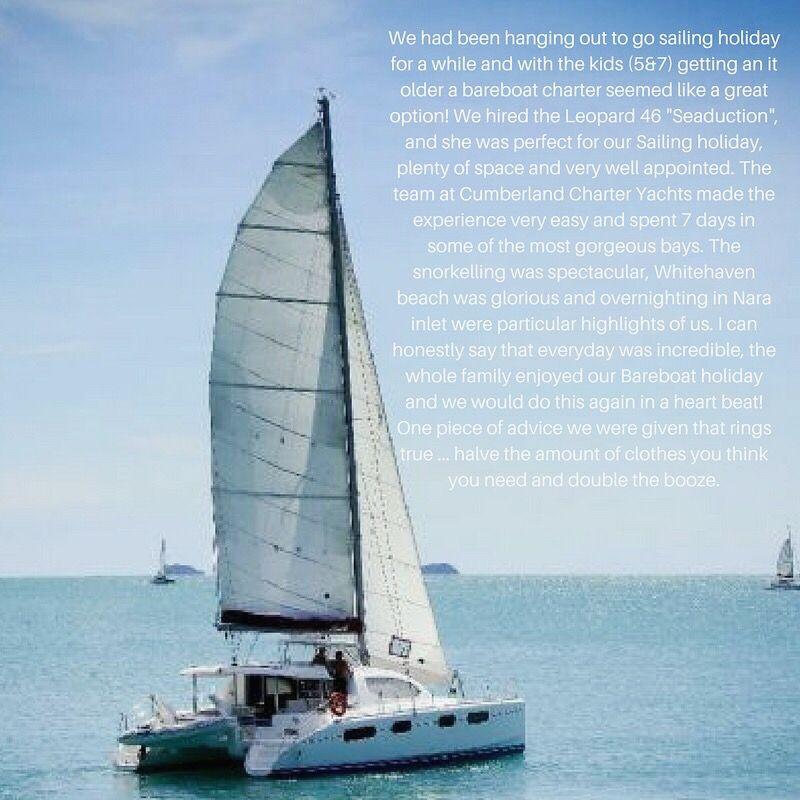 Sail the Whitsundays by bareboat charter on the Catamaran