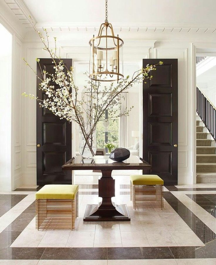 Creating a Welcoming Entry What's the secret to creating an amazing entry like this one from Thomas Pheasant? I have the answer on my blog - Beth Lindsey Interior Design