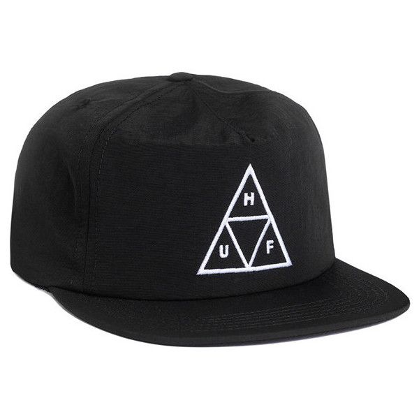 HUF Triple Triangle Black Snapback ($34) ? liked on Polyvore featuring accessories hats  sc 1 st  Pinterest & HUF Triple Triangle Black Snapback ($34) ? liked on Polyvore ...
