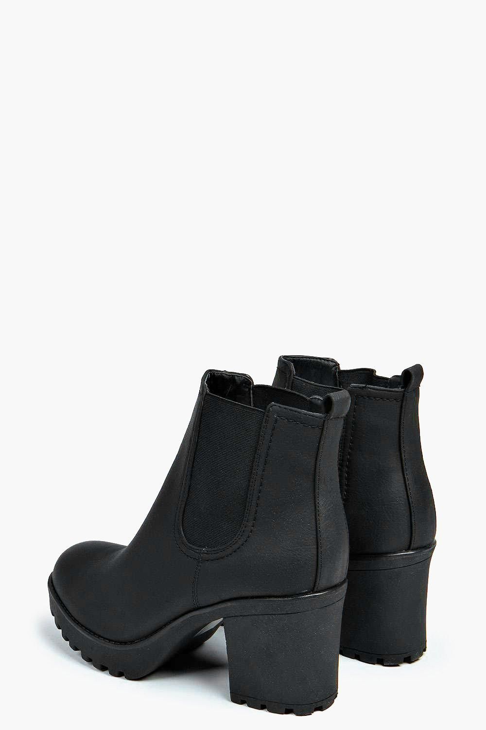 Tia Chunky Cleated Heel Chelsea Boot | Outfits | Pinterest | Night ...