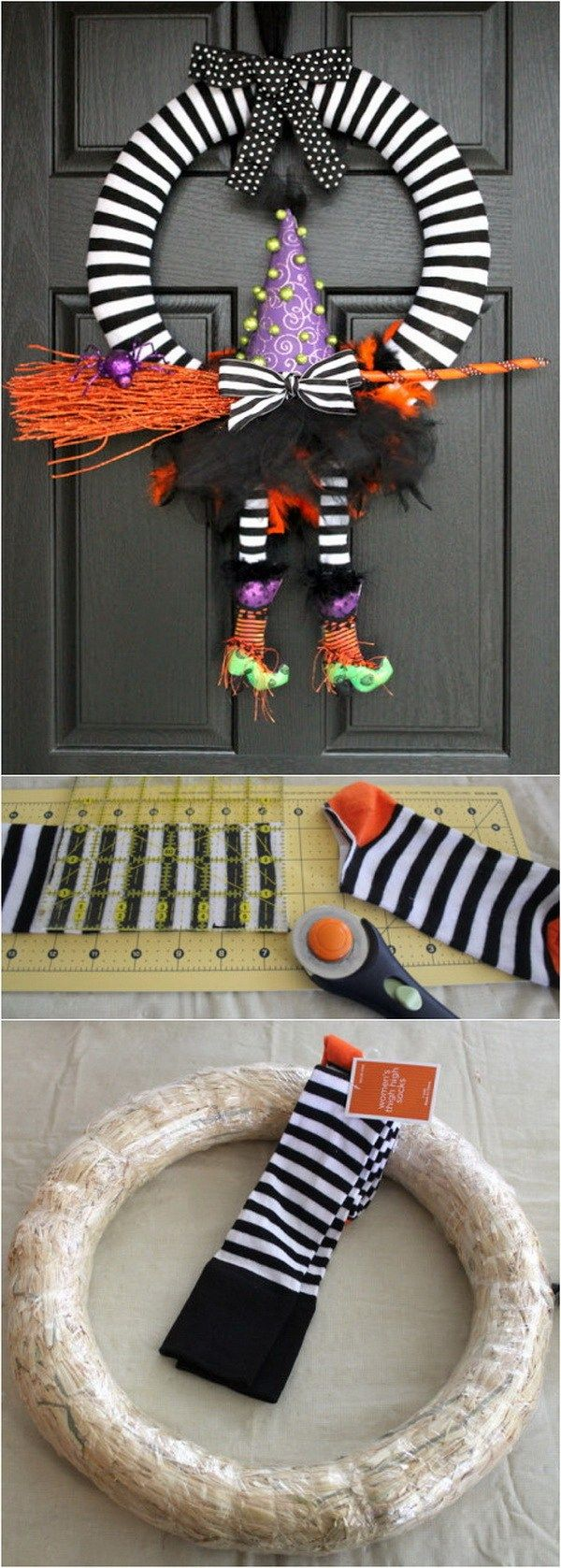 DIY Halloween Wreaths - Halloween Door Decoration Ideas Halloween - Halloween Door Decorations Ideas