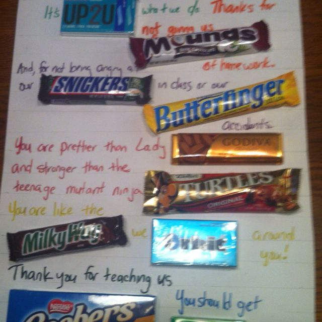 Use Candy Bars To Amp Up A Thank You Or Birthday Poster Simon