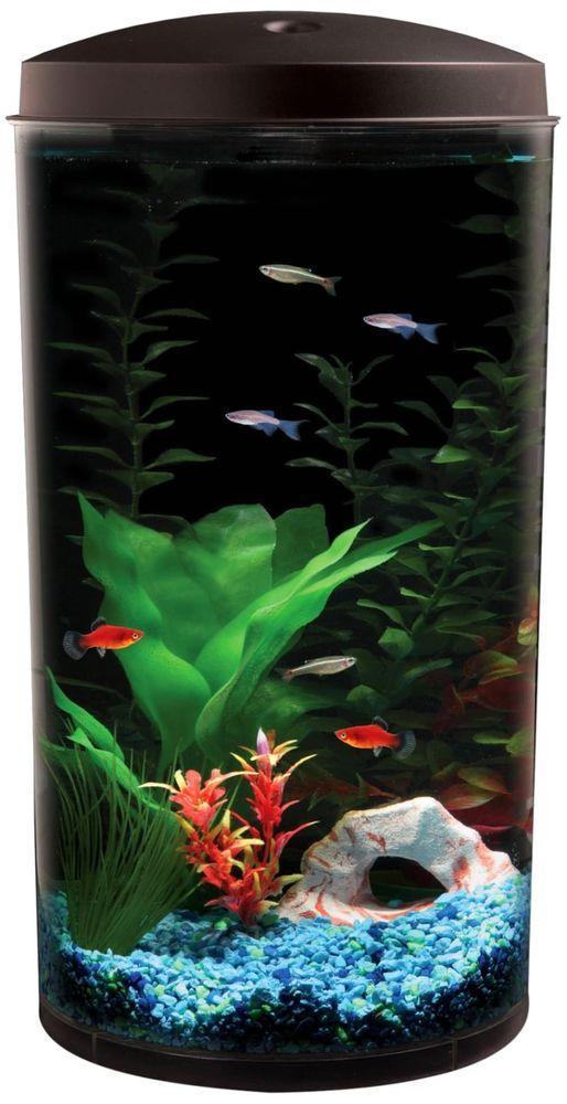 6 Gal Starter Aquarium Kit Led Light Fish Tank Bowl Filter Betta Pet Home Office Kollercraft Aquarium Kit Cool Fish Tanks Aquarium