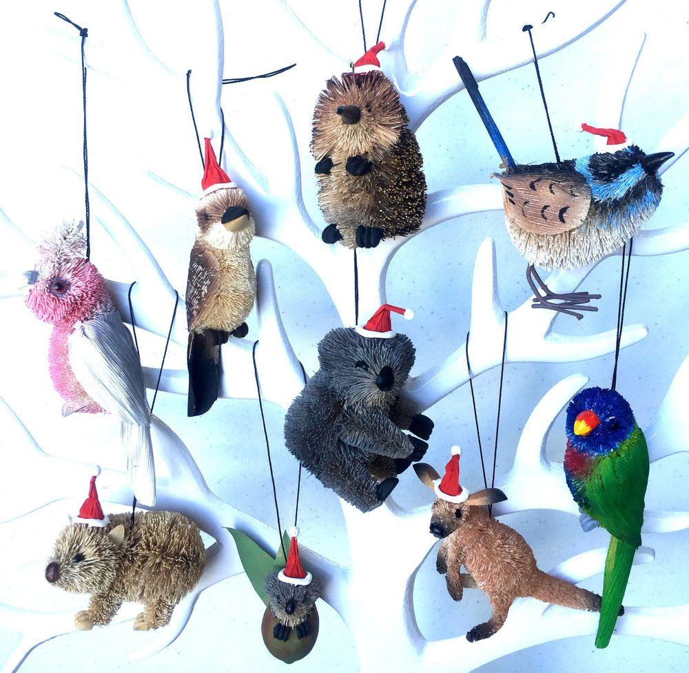 Australian Animal CHRISTMAS TREE DECORATIONS Hanging