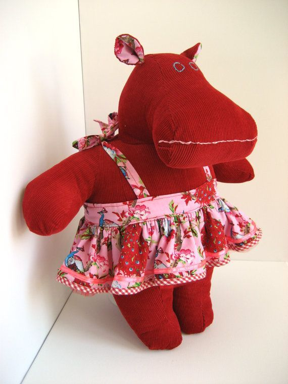 unusual stuffed animals   Red stuffed animal hippo - Maisie the Mippo - Unique kids gift ...