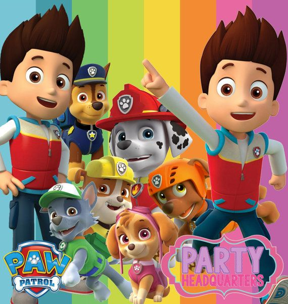 Instant Download Paw Patrol Collection Digital Clip Art High Resolution 300dpi Paw Patrol Birthday Party Paw Patrol Birthday Paw Patrol Party