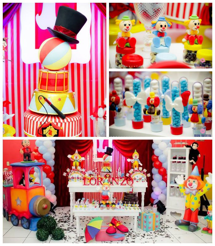 Circus themed birthday party with Such Cute Ideas via Karas Party