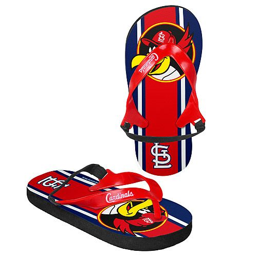 d80d4e36 St. Louis Cardinals Kids Ages 4-7 Elastic Back Thong Flip Flop - MLB ...