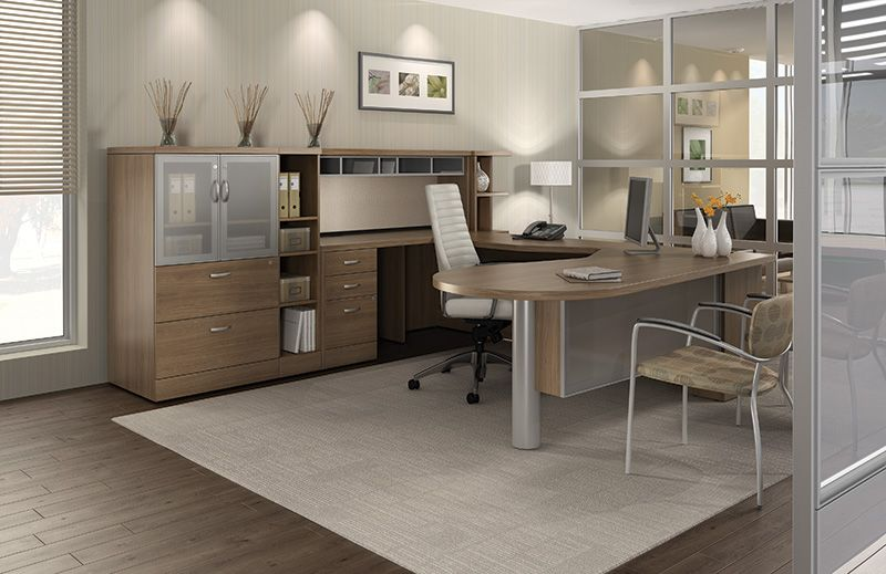 High End Office Desk From The Global Total Office Zira Collection