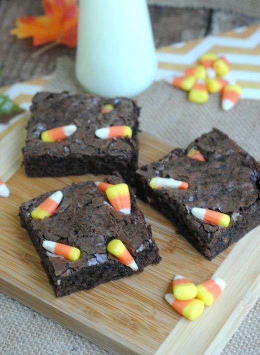 who doesnt love a good brownie recipe these homemade candy corn brownies put - Halloween Brownie Recipe
