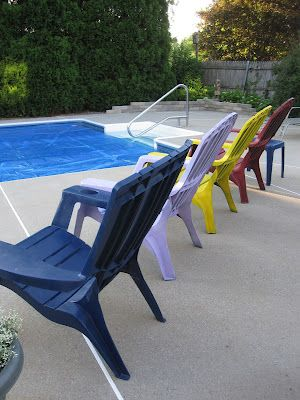 Painted Plastic Adirondack Chairs