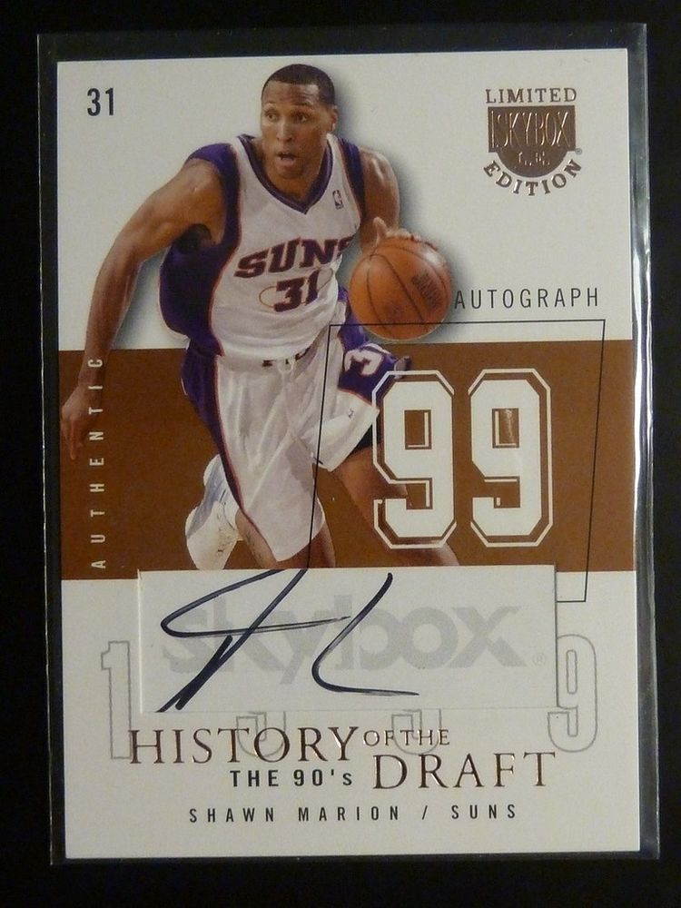 20032004 skybox limited edition shawn marion autograph