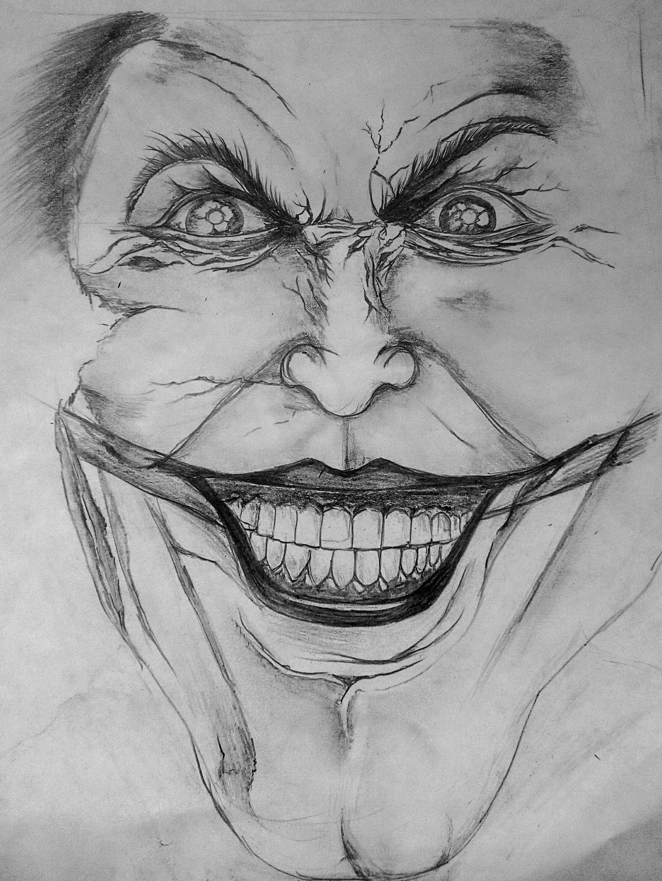 The Jokers Laughing Face Pencil Drawings Laughing Face