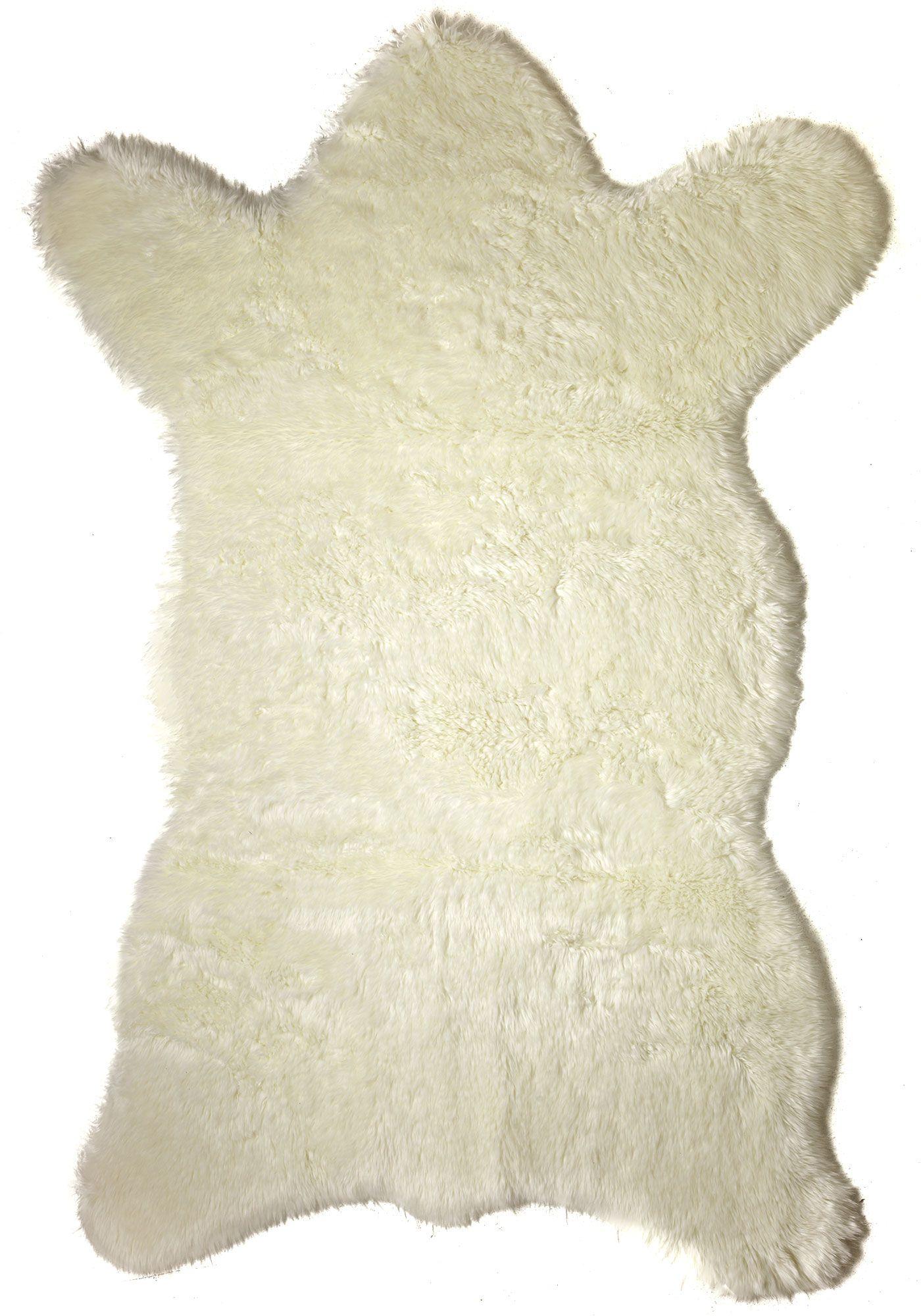 Faux Polar Bear Hide Rugs | Fabulous-Furs