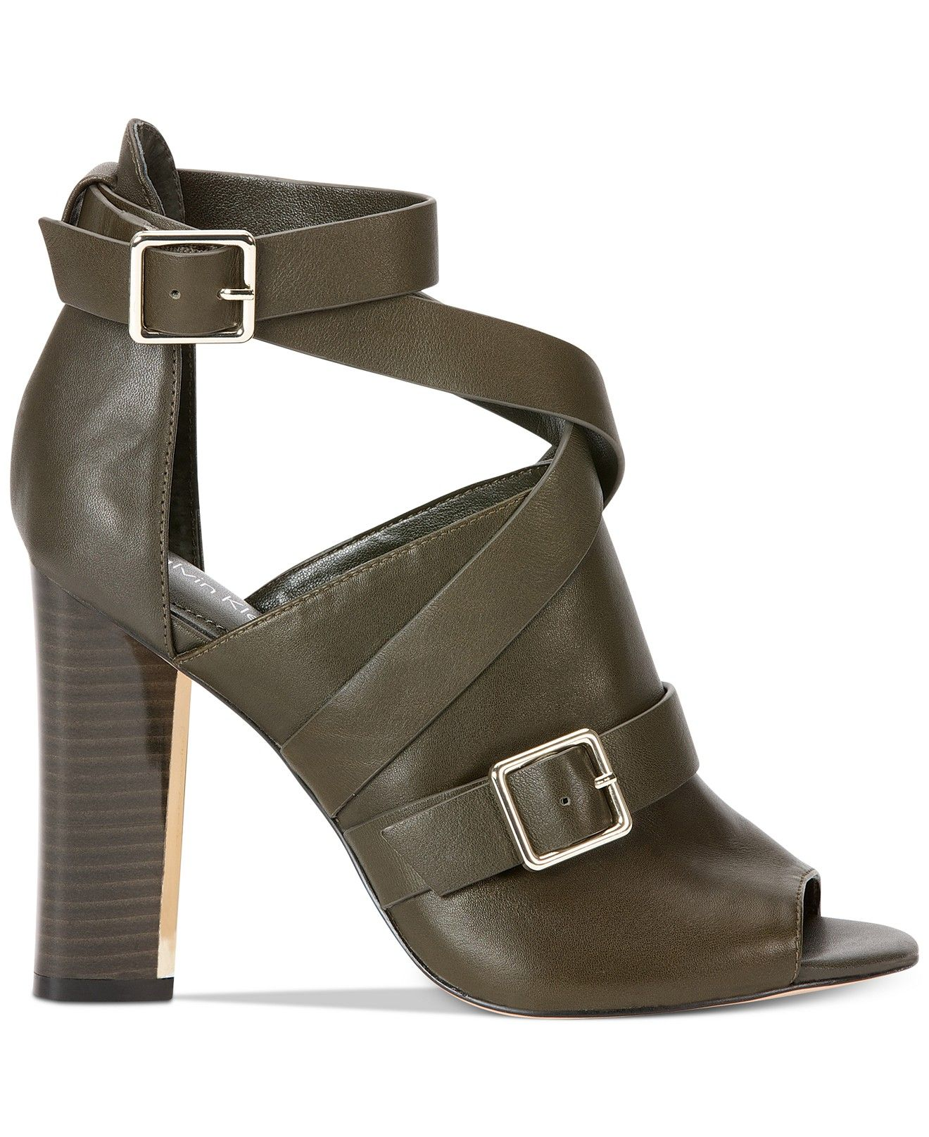 Loving the military inspiration in these Calvin Klein Zhianna dress sandals — call it combat chic!