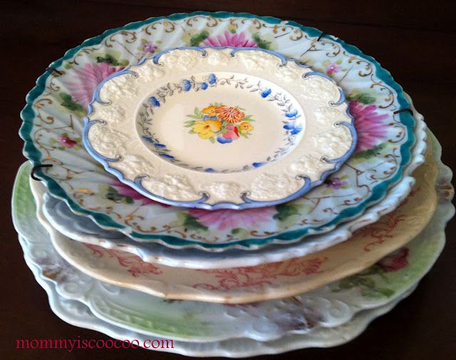 mommy is coo coo - antique plates