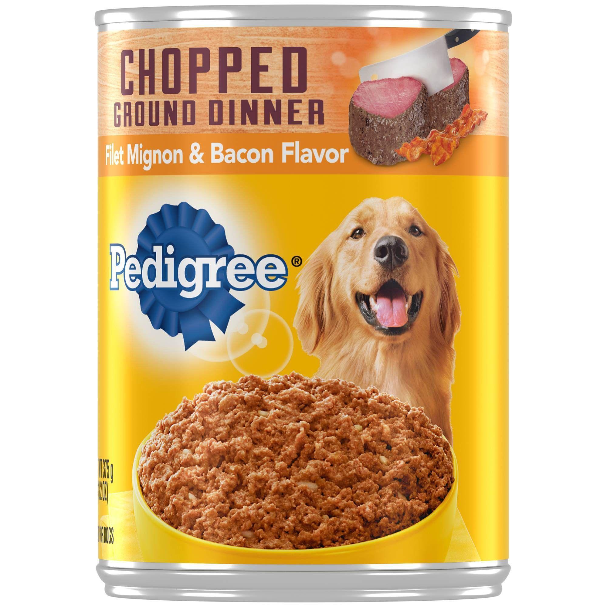 Pedigree Ground Beef And Bacon Flavor Wet Dog Food 13 2oz Dog