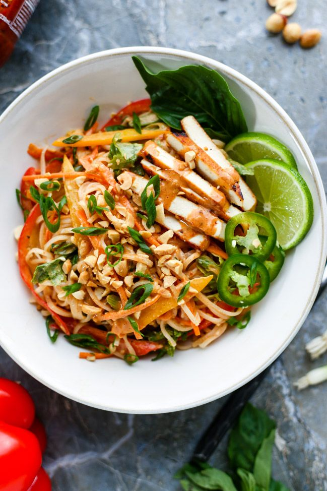 Vegan Almond Butter Noodles - ilovevegan.com