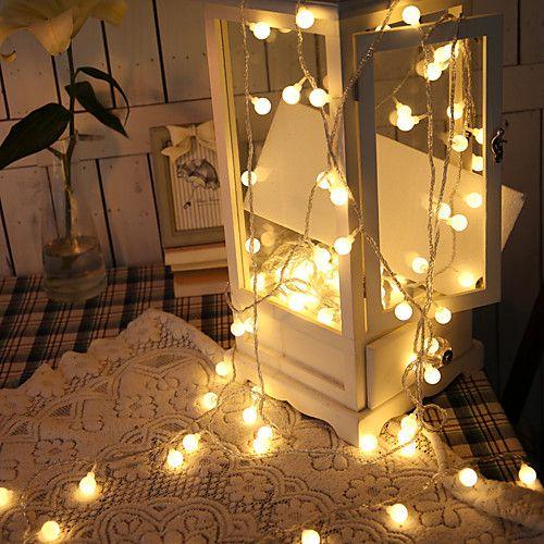 lightinthebox / 1.5m Cordões de Luzes 10 LEDs Branco Quente Criativo / Decorativa Baterias alimentadas 1conjunto