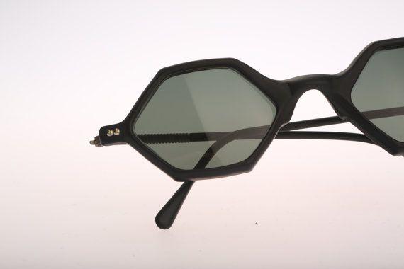 Sun Boy SB-46 Vintage sunglasses NOS Rare & Unique Steampunk hexagon designer sunglasses