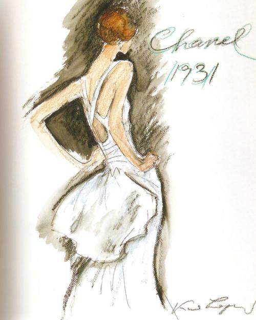 Chanel 1931 sketch