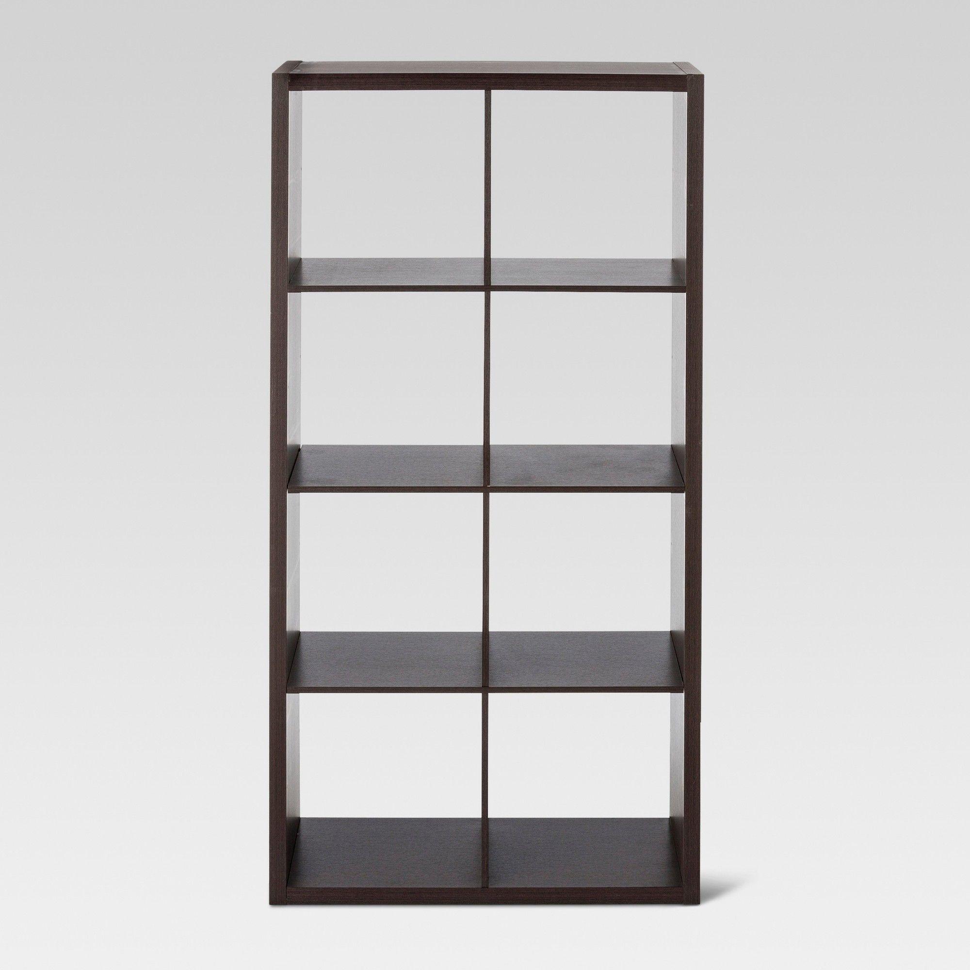 8 Cube Organizer Shelf Espresso 13 Threshold Avington Cube