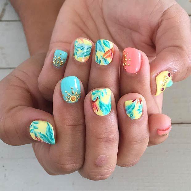 35 Bright Summer Nail Designs Bright Summer Nails Nail Designs