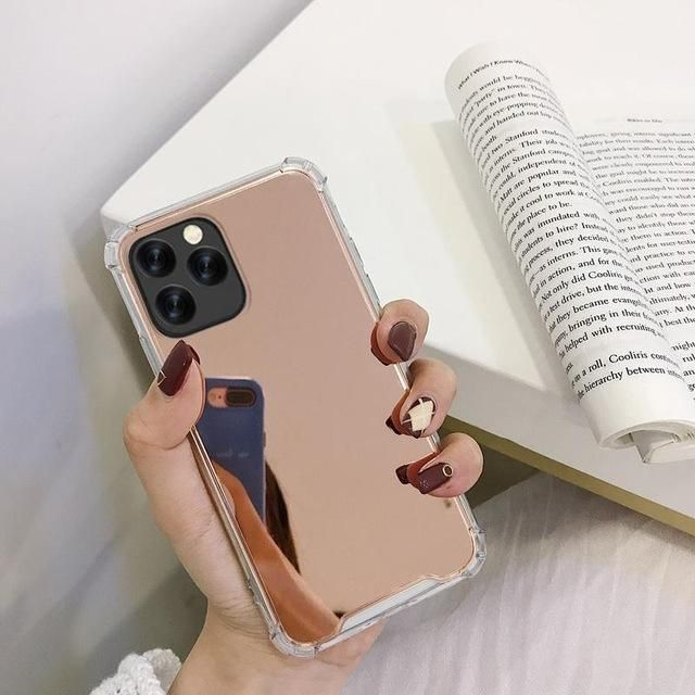 KISSCASE Mirror Phone Case for iPhone 11 Pro Max Case for iPhone X XS 5 5S SE 6 6S 7 8 Plus XS Max XR Shockproof Soft TPU Cover