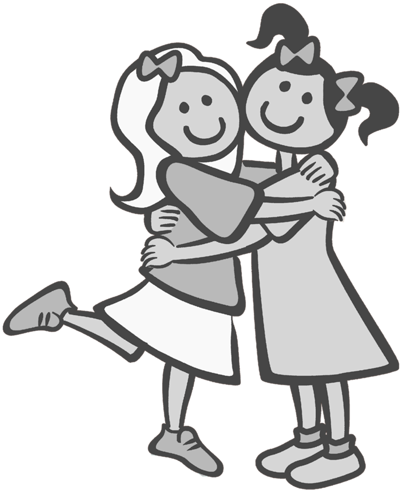 hight resolution of friends clip art black and white google search