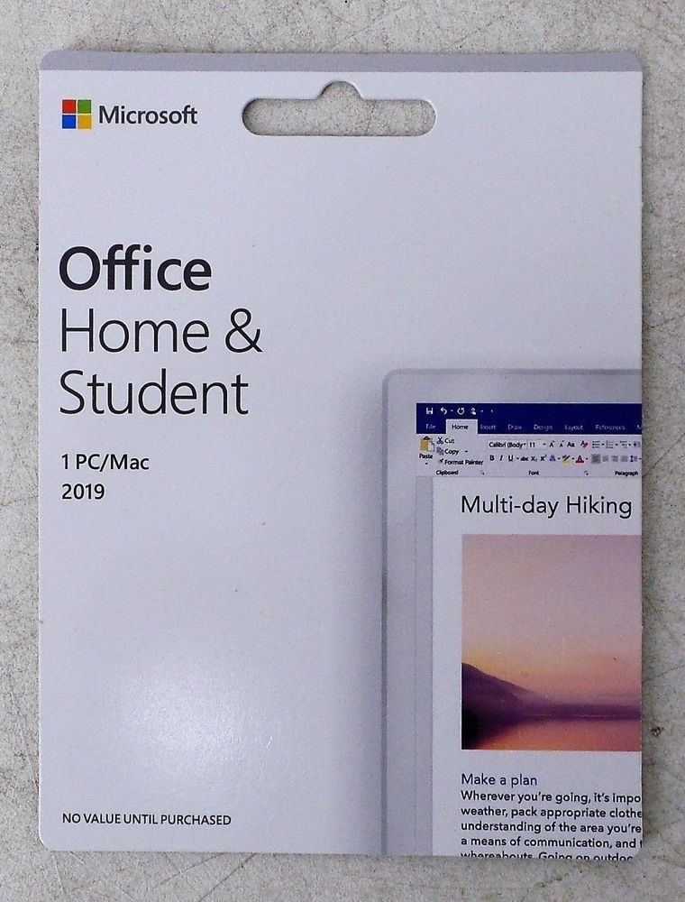 microsoft office for mac student 2019