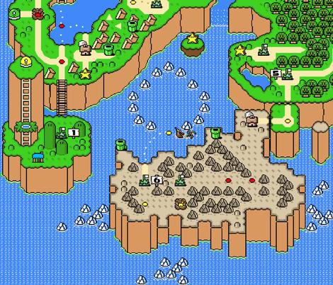 Super Mario World Map fabric by sentfrommars on Spoonflower - custom ...