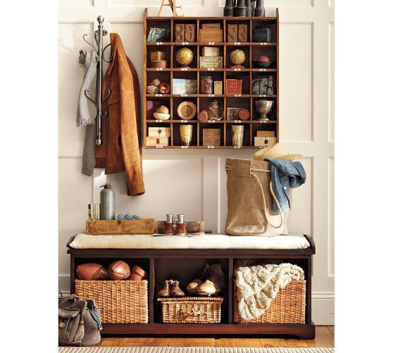 Cubby Organizer Natural Pottery Barn 149 On Sale For 110 Entryway Bench Storage Bench With Storage Home