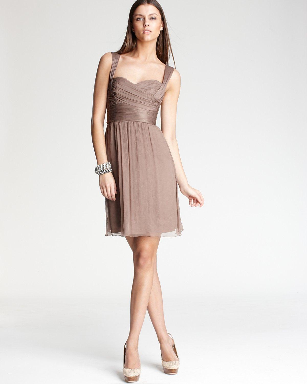 Amsale dress crossover chiffon bloomingdales beige brown amsale dress crossover chiffon bloomingdales ombrellifo Gallery