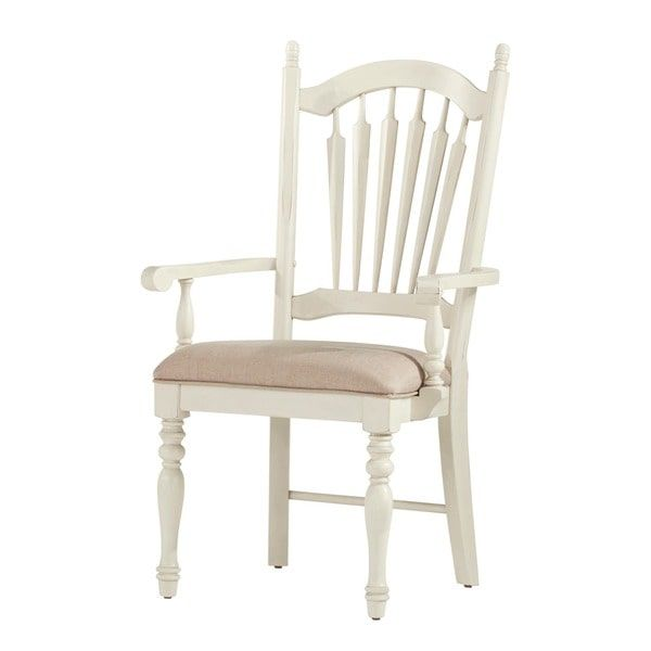 McKay Country Antique White Slat Back Dining Chair (Set Of 2) By INSPIRE Q