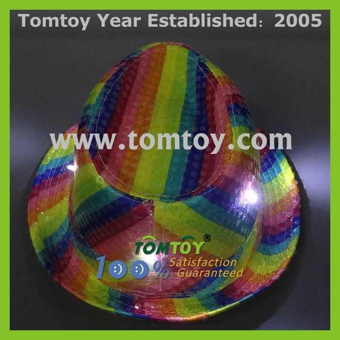 1e94db4de6e Sequin Rainbow Blinking Fedora Led Light Hat - Buy Led Light Hat ...
